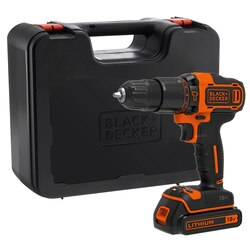 Black and Decker - Wiertarkowkrtarka LiIon 18V z udarem w walizce - BDCHD18K