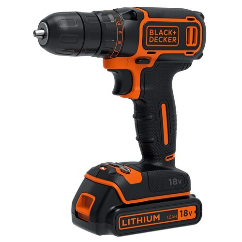 Black And Decker - Wiertarkowkrtarka LiIon 18V z 2 akumulatorami - BDCDC18B
