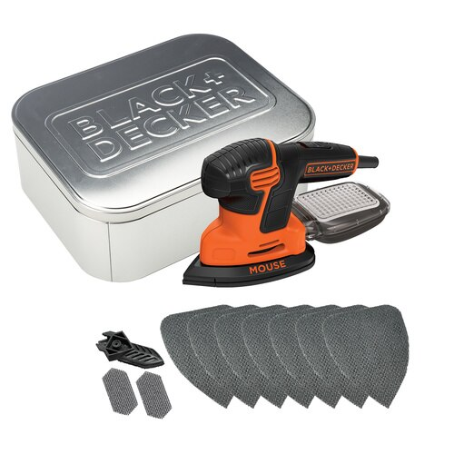 Black and Decker - PL 120W Next Generation Mouse sander with 10 accessories and storage tin - KA2000AT